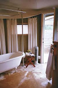 Sinya on Lone Man Creek , a safari tent-inspired B&B for two, is on a quiet creekside property near Wimberley.(Ramona Flume)
