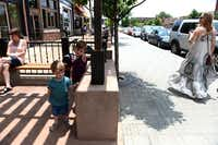 Brothers Jasper Gooden, 2, and Felix Gooden, 4, stand outside Steel City Pops on Lower Greenville.(Photos by ROSE BACA - neighborsgo staff photographer)