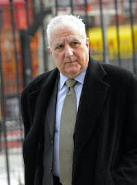 """Daniel Bonventre, former director of operations at Bernard L. Madoff Investments Securities LLC, arrives at federal court in New York, U.S., on Wednesday, March 5, 2014. Five former members of Bernard L. Madoff's inner circle told a """"staggering"""" number of lies to prop up their bosss $17.5 billion Ponzi scheme, a prosecutor said during closing arguments in their criminal trial. Photographer: Louis Lanzano/Bloomberg *** Local Caption *** Daniel BonventreLouis Lanzano - Bloomberg"""