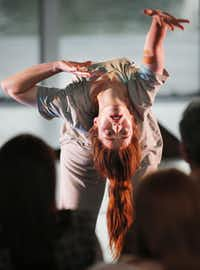 Jessica Thomas changes perspective during her performance for Contemporary Dance/Fort Worth.(Tom Fox - Staff Photographer)