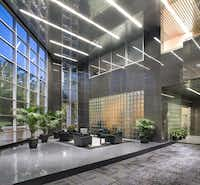 The building's lobby is done in dark stone as was popular in the 1980s, but that'll change to a brighter look.Contributed - Photos by Gaedeke Group