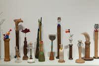 Robin Ragin Objects on a Shelf Series, installation detail 2013