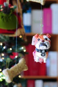Bark up the right Christmas tree with a doggie ornament from the Write Selection.