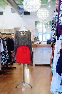 "Gift Guide 2012 ""Animal Print Blouse with Red Skirt"" at The Impeccable Pig - Dallas, Texas."