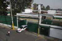 "An immigration vehicle exits the compound of the Agujas immigration detention center, where U.S. fugitive Ethan Couth is being detained in Mexico City, Thursday, Dec. 31, 2015. The Texas teen known for using an ""affluenza"" defense in a fatal drunken-driving accident is being held at a Mexico City immigration detention center in one of the capital's poorest areas, where he will likely spend weeks, if not months, as he appeals deportation. Couch will sleep on a cot or bunk in a semi-open bedroom shared with two or three other detainees. Unarmed immigration guards patrol the unit, and a closed-circuit camera system is constantly filming in most area other than the common bathrooms. Armed guards are posted at the outside gates and walls.(AP Photo/Rebecca Blackwell)(Rebecca Blackwell - AP)"