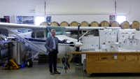 Lorenzo Lizarralde, a former Dallas-area resident, makes wines in his airplane hangar at Chateau Aeronautique in Jackson, Mich.( Susan R. Pollack )
