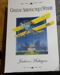 Chateau Aeronautique's bottle labels are airplane-themed.( Susan R. Pollack )