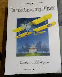 Chateau Aeronautique's bottle labels are airplane-themed.Susan R. Pollack
