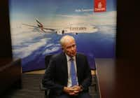 Emirates President Tim Clark (AP Photo/Kamran Jebreili)