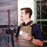 This photo posted on the website freejamesfoley.org shows journalist James Foley in Aleppo, Syria, in July, 2012. The family of an American journalist says he went missing in Syria more than one month ago while covering the civil war there. A statement released online Wednesday by the family of James Foley said he was kidnapped in northwest Syria by unknown gunmen on Thanksgiving day. (AP Photo/Nicole Tung, freejamesfoley.org) NO SALESNicole Tung - AP