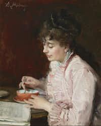 """Portrait of a Lady"" (1890-91), by Raimundo de Madrazo y Garreta, is already on display at the Meadows.( Michael Bodycomb )"