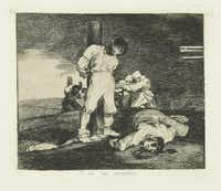 Francisco de Goya y Lucientes (Spanish, 1746-1828). The Disasters of War. And There's No Help for It. Plate No. 15. 1810-1814, etching and aquatint, Meadows Museum, SMU, Dallas. Algur H. Meadows Collection.(Michael Bodycomb)