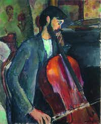 Amedeo Modigliani (1884 1920), Le Violoncelliste (The Cellist), 1909. Oil on canvas. P67, Archive Abell Collection (Joaqu n Cort s)( Krause, Johansen  -  Abell Collection )