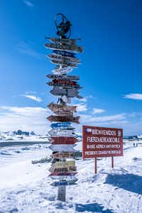 After a two-hour flight from Punta Arenas, passengers arrive at King George Island in the South Shetlands, which is shared by Chile's Frei and Russia's Bellingshausen scientific stations.(Mark Sissons)