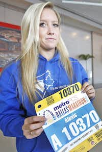 """I've run through near-hurricanes before, so this is just a little ice on the ground,"" said Alexis Brudnicki, 27, who flew in from Canada for the race."