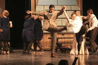 Will Beck kicking up his heels in his DSM Awards Best Supporting Actor nominated role in Mabank High School's production of The Music Man.