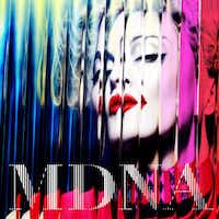 "In this CD cover image released by Interscope Records, the latest release by Madonna, ""MDNA,"" is shown."
