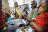 """Edward and Sade Cox, parents of five, including 5-year-old Eliyah (right), believe in prekindergarten and have sent four so far. """"They're learning things that they expect them to know in kindergarten,"""" said Sade Cox.(Matthew Busch - Staff Photographer)"""