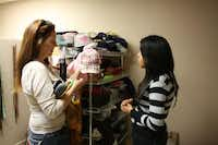 The Main Place provides new clothing, accessories, prom dresses and tuxedos, pillows and blankets for homeless teenagers referred from Irving ISD.Photo by GLORIA HERNANDEZ