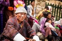 A man enjoys the nomad festival in Bhutan.Jonathan Look Jr.  -  Special Contributor