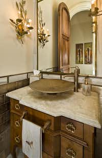 There are nine full bathrooms and four half-baths in the home.(Sean Gallagher)
