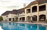 The outdoor pool area includes a fire pit and pool house.(Sean Gallagher)