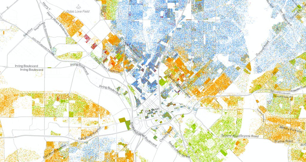 Colorcoded Map Shows Racial And Ethnic Makeup Of North Texas - North texas map