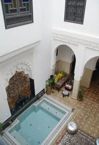 The Riad Star, a traditional courtyard house once the home of Folies Bergère bill-topper Josephine Baker, now provides visitors to Marrakesh with luxurious seclusion.Peter Neville-Hadley  -  Horizon Writers' Group