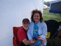 "Steve and Suzan Mayberry kick back during a barbecue competition in Muenster in 2007. ""He was just the perfect person for me to build a life with,"" Suzan Mayberry said."
