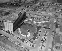 Another look at the Meadows Building on June 20, 1956. The new owners want tenants out of the annex along Greenville by mid-2016. (Squire Haskins Photography Collection/Special Collections, University of Texas at Arlington Libraries)