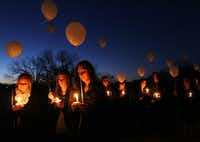 A candlelight memorial service was held at Parr Park in Grapevine a year ago for the Yazdanpanah family,  slain on Christmas Day.