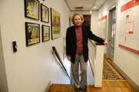 Merrie Spaeth of East Dallas, who played Gil in the 1964 classic The World of Henry Orient, stands by the movie posters from the film at her Spaeth Communications office in Uptown Dallas. Spaeth returned to the red carpet to celebrate the movie's 50th anniversary at an April 11 screening during the Turner Classic Film Festival in Los Angeles.(Rose Baca - neighborsgo staff photographer)