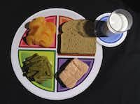 A sample plate for the new USDA food icon.(Susan Walsh)