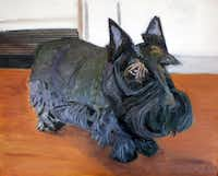 George W. Bush's dog, pictured in Bush's painting Miss Beazley, died this weekend after battling cancer.George W. Bush