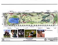 A site plan for Moss Glen Park was created in 2006. Now, residents are hoping to begin fundraising to start work on development of the park.Rendering courtesy of the city of Dallas