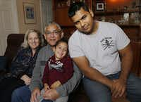 Lynne Machado,Ernest Machado, Mateo Munoz, 2, and Erick Munoz, pictured in Azle, Texas on Jan. 30, 2015. They are family of Marlise Munoz, a Fort Worth woman who was kept on life support to try to keep her fetus alive. Lawmakers are again taking up the difficult question of how to resolve conflicts over keeping patients on life support and end-of-life rules. (Michael Ainsworth/The Dallas Morning News)