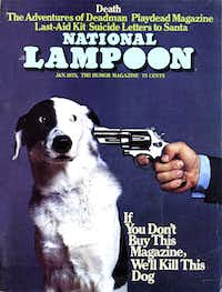 A 1973 cover of National Lampoon exhibited its outrage humor.