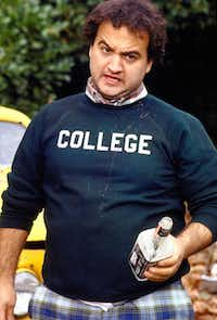 John Belushi starred in National Lampoon radio and stage projects before his Saturday Night Live days.