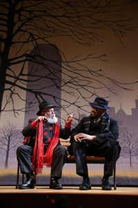 Francis Fuselier (left) and Calvin Scott Roberts in the Dallas Children Theater's production of Miracle on 34th Street, which runs through Dec. 20( Nathan Hunsinger  -  Staff Photographer )