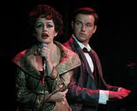 "Janelle Lutz as Judy Garland) and Alex Ross  as Peter Allen in ""The Boy From Oz.""(Nathan Hunsinger - Staff Photographer)"