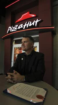 Scott Bergren, CEO of Pizza Hut U.S. and Yum! Innovation, at the new Pizza Hut headquarters.