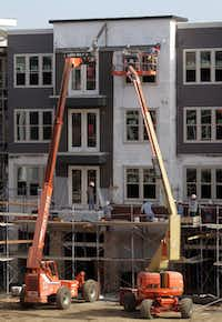 Apartment construction boomed throughout 2012.