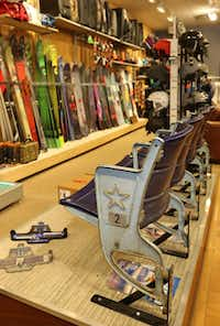 Skiers still find plenty of equipment to choose from at Saint Bernard's Dallas store.( Louis DeLuca  -  Staff Photographer )