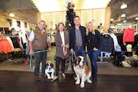 Store founders Wes and Anne Goyer have long owned St. Bernard dogs, and son Charlie and his wife, Ashleigh, are carrying on the tradition.(Louis DeLuca - Staff Photographer)
