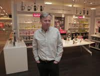 Ron Johnson, then J.C. Penney CEO, showed off one of the retailer's new branded shops, featuring Bodum French presses, at Penney's Dallas prototype store in February.(Michael Ainsworth - Staff Photographer)