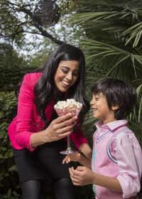 Yasmeen Tadia snacked on popcorn when she was growing up. Now, she shares the experience with her son, Zain, with HotPoppin gourmet popcorn. (Kye Lee/Special Contributor)