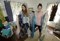 To save money,  Heather DeStena (left), 26, and Kaelyn Terry, 28, share both a house and a wardrobe. Millennials are more likely to rent or share what they buy.(Nathan Hunsinger - Staff Photographer)