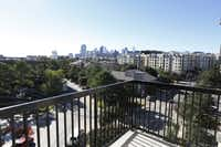 This Monaco on the Trail apartment has a great view of Dallas from Uptown.
