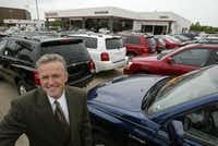 Steve Grogean of Toyota of Richardson is eager to talk to executives and ask questions about their move to Plano.File 2002  -  Staff Photo