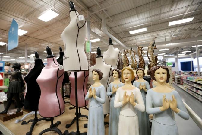 Household Statuettes Are Shown Inside The At Home On Stemmons Freeway In  Lewisville. It Recently